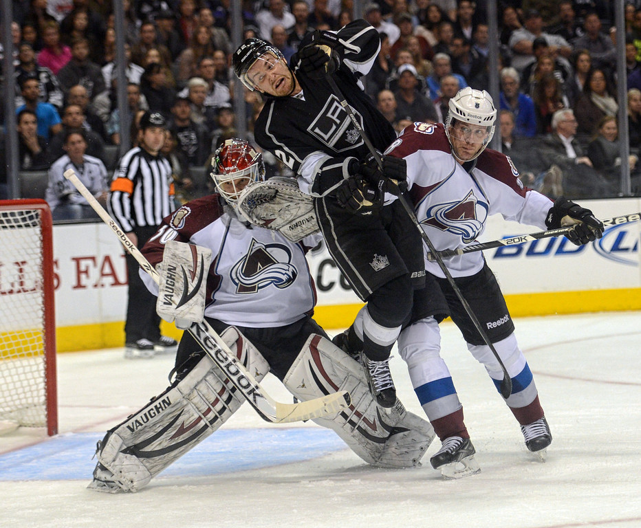 . Kings vs Avalanche during their game at the Staples Center in Los Angeles Thursday, April 11, 2013.(Hans Gutknecht/Staff Photographer)