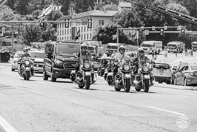 Firefighter Tom Royds Procession