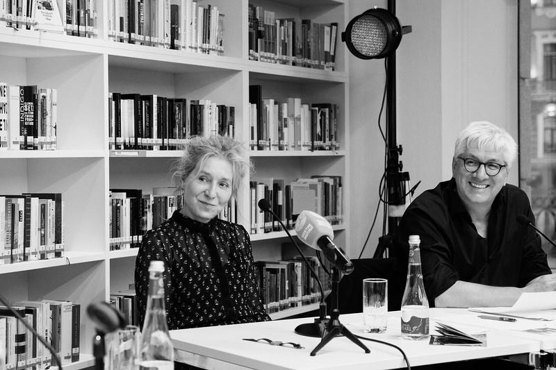German Journalist and Novelist Elke Schmitter & Director of the Goethe Institute in St. Petersburg Günther Hasenkamp. Saint Petersburg, 2019.