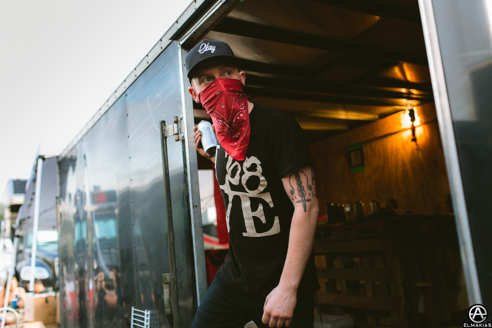 Mat Welsh of While She Sleeps at Vans Warped Tour 2015 by Adam Elmakias