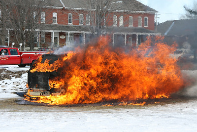 St. Michaels, VT - MVA and Car Fire Demo, 3-29-08