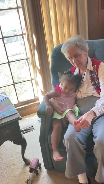Aunt Betty Jean McCleskey and Jolie 10/17/2020