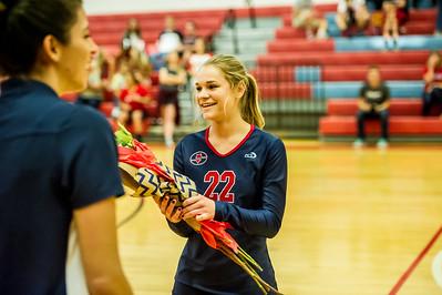Volleyball Senior Night 10-14-2015