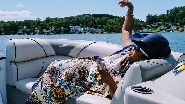 Boating on Lake Hopatcong with Bev & Yoshicka
