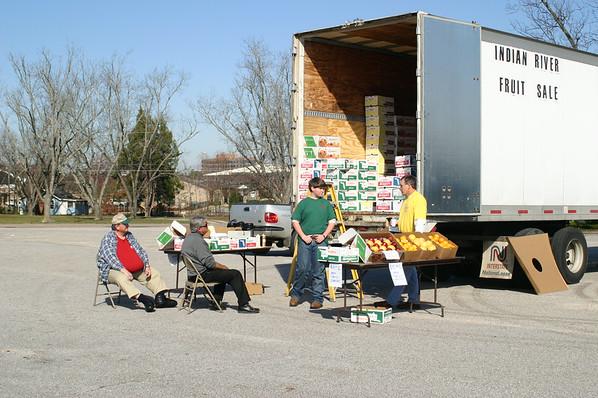 Missions Fruit Sale at Evangel 2004