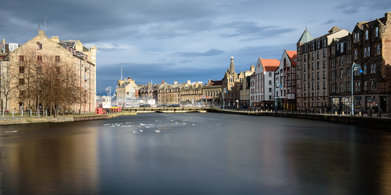Leith Harbour in Edinburgh