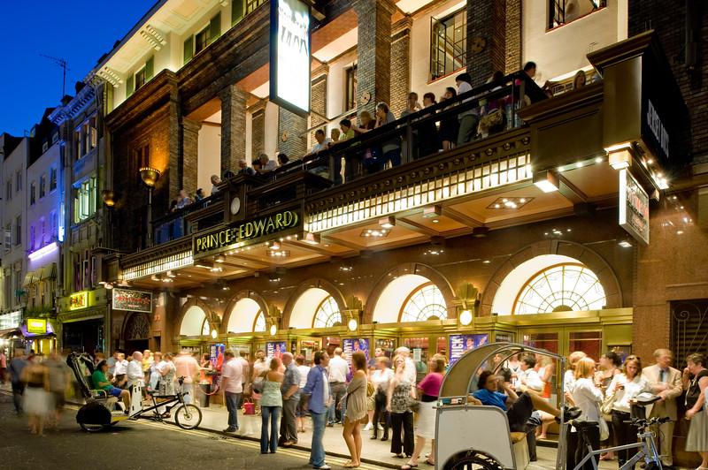 Prince Edward Theatre on Old Compton Street, W1, London, United Kingdom