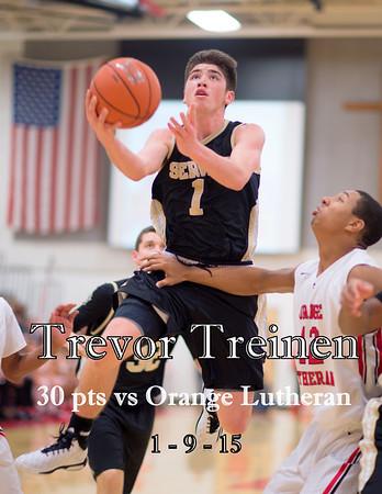 Varsity vs Orange Lutheran 1-9-15