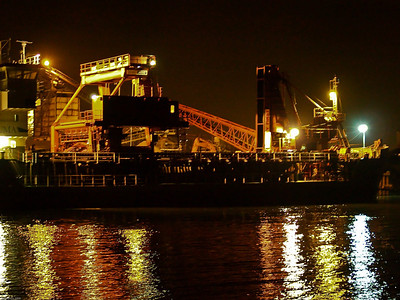 Unloading at night