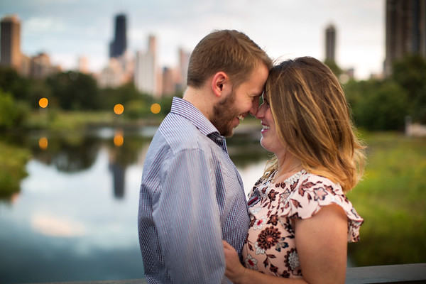 Alex and Christine Chicago Engagement Shoot