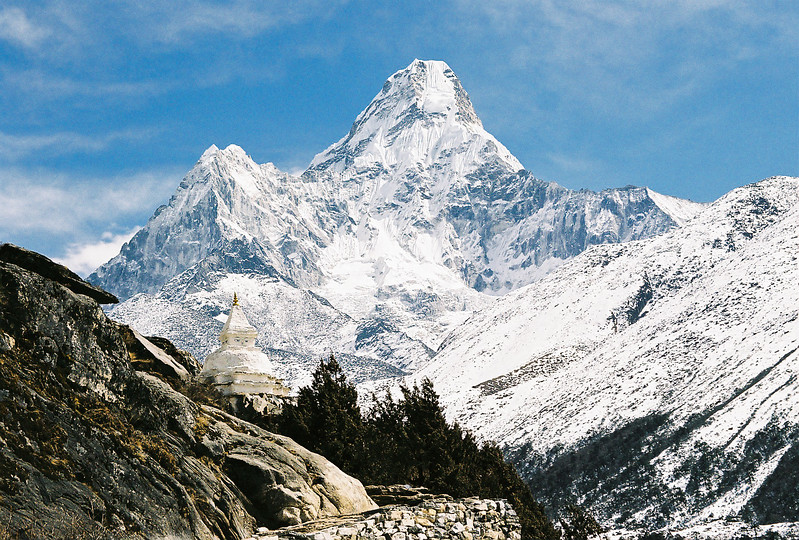 Ama Dablam (6856m) viewed from south of Pangboche