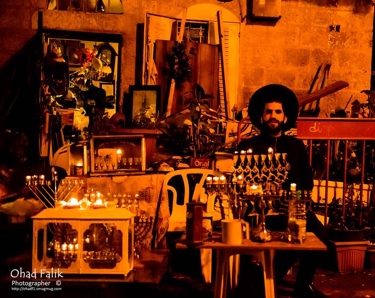 Hanuka in Jerusalem Orthodox Nighberhoods