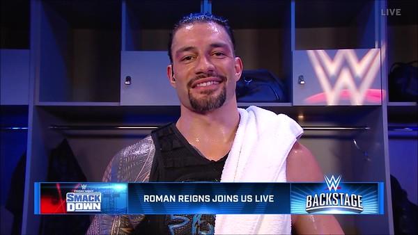 Roman Reigns - Screencaps / WWE Backstage Oct 25, 2019
