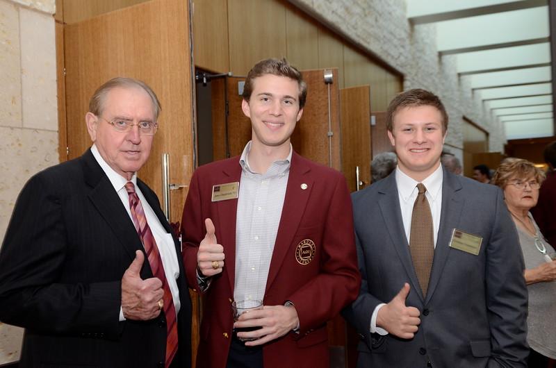 Gary Williams '65, John Claybrook '13, Christian Robertson