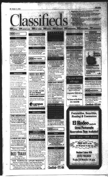 Daily Trojan, Vol. 150, No. 39, October 21, 2003