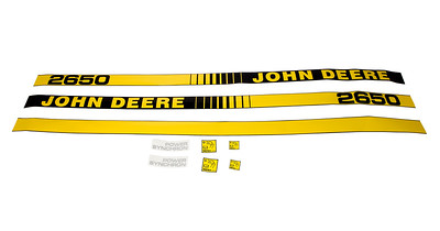 JOHN DEERE 2650 SERIES BONNET DECAL SET