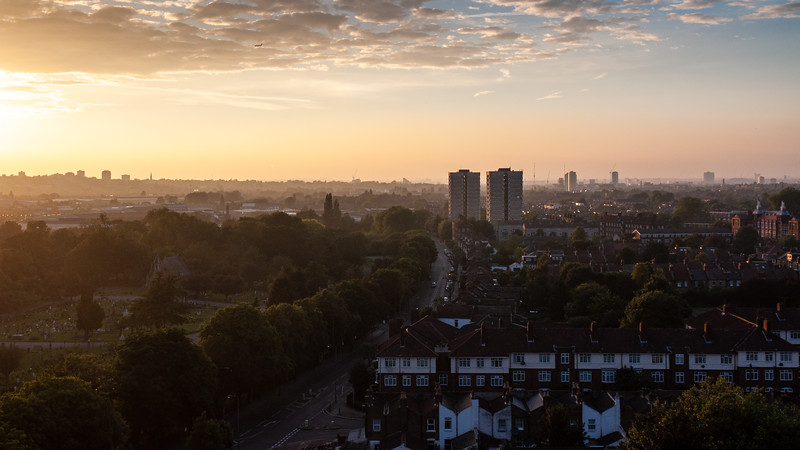 South-west London sunset