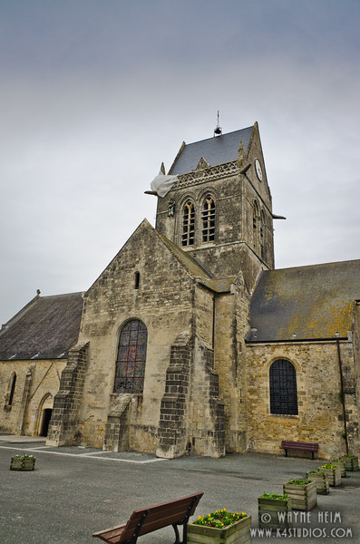 Sainte-Mere-Eglise Church 2   Photography by Wayne Heim