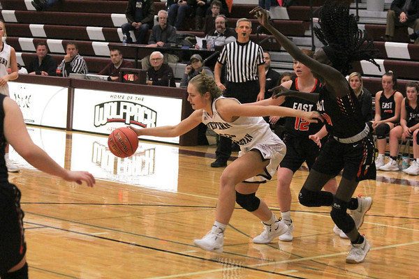 Western Christian girls' basketball versus SIoux City East 11-27-18