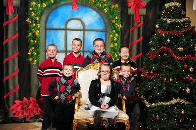 Abel Family Christmas Photos 2012