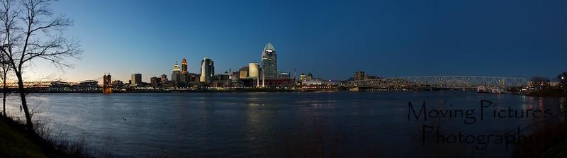 Cincinnati Night Skyline - January, 2012