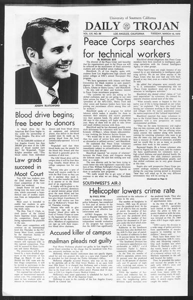 Daily Trojan, Vol. 61, No. 88, March 10, 1970