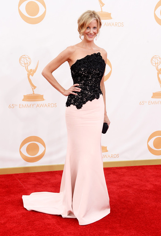 . Actress Anna Gunn arrives at the 65th Annual Primetime Emmy Awards held at Nokia Theatre L.A. Live on September 22, 2013 in Los Angeles, California.  (Photo by Frazer Harrison/Getty Images)