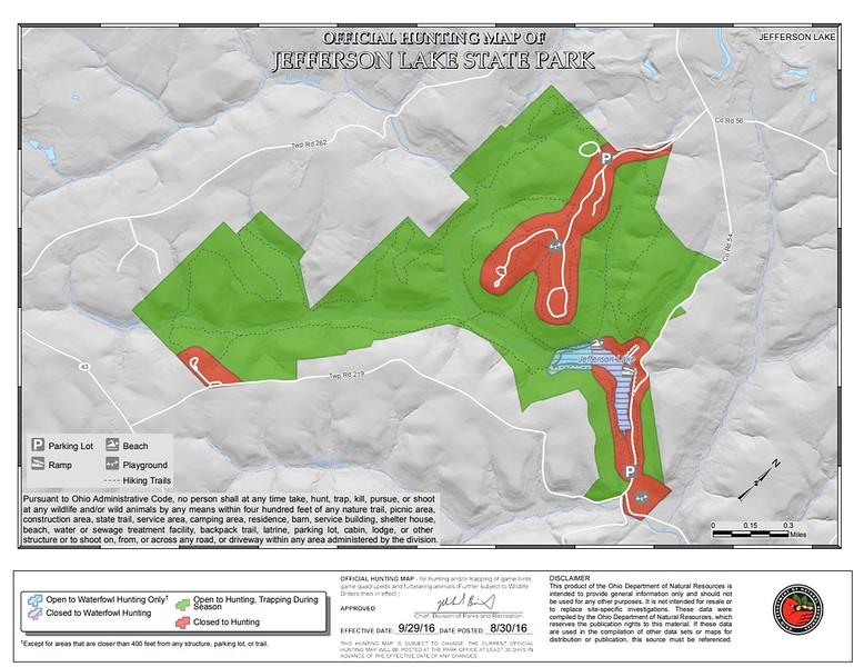 Jefferson Lake State Park (Hunting Map)
