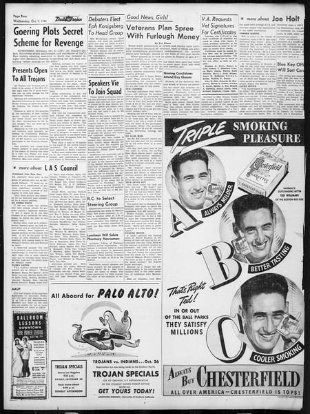 Daily Trojan, Vol. 38, No. 18, October 09, 1946