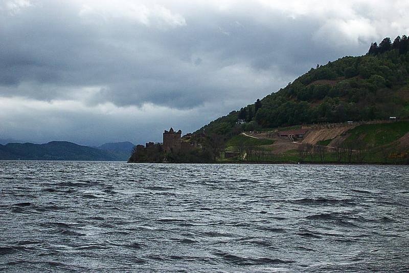 Urquhart Castle as seen from Loch Ness