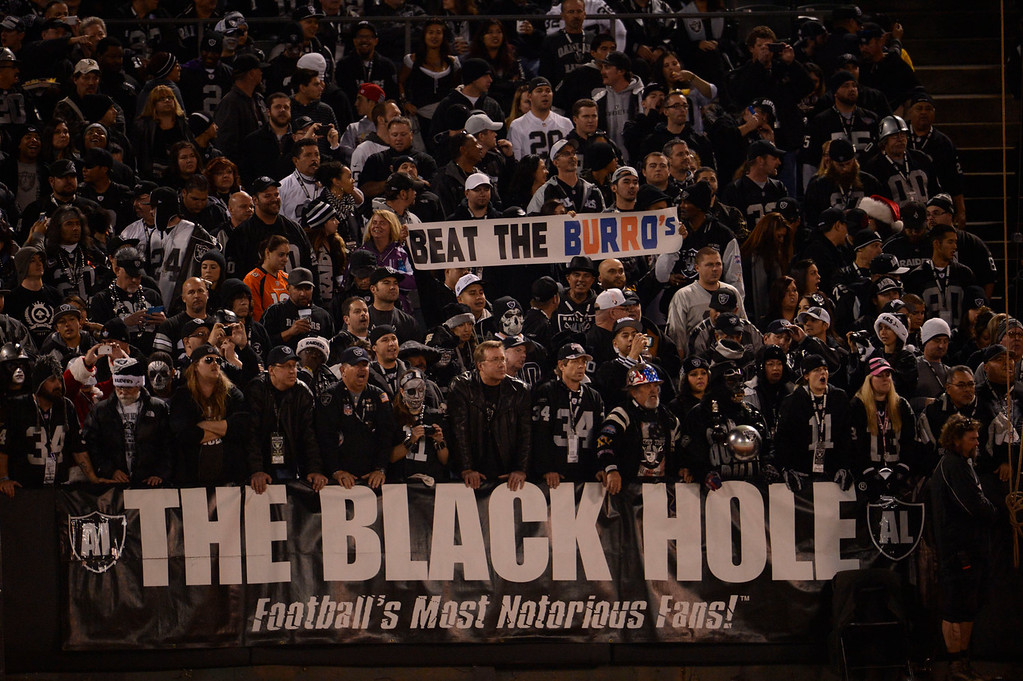 . Denver Broncos take on the Oakland Raiders Thursday, December 6, 2012 during Thursday Night Football at O.c Coliseum in Oakland  John Leyba, The Denver Post