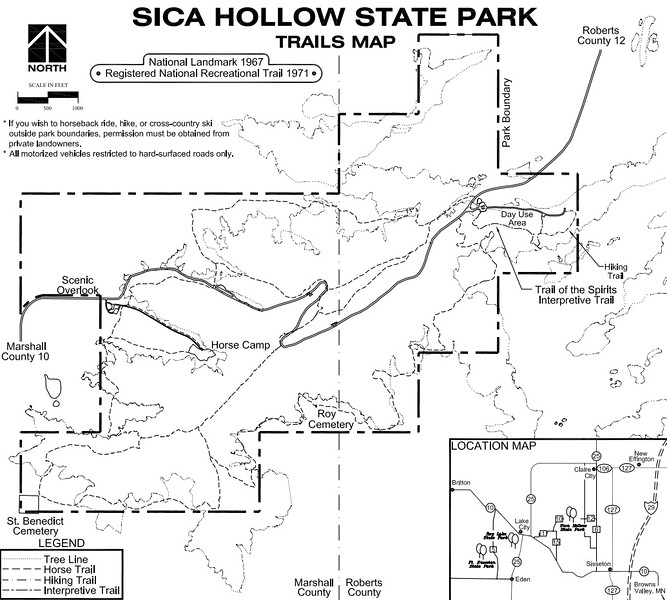 Sica Hollow State Park (Trail Map)