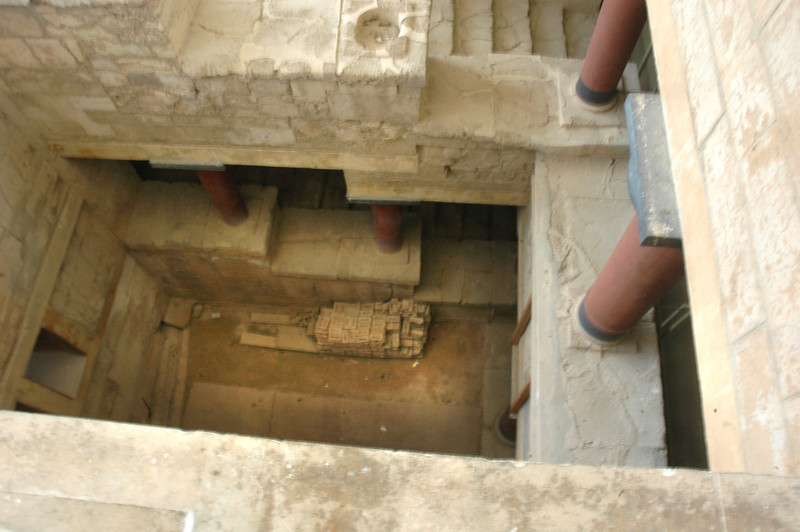 Stairwell in the Palace of Knossos