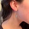 1.50ctw (est) Victorian Leaf Component Earrings 1