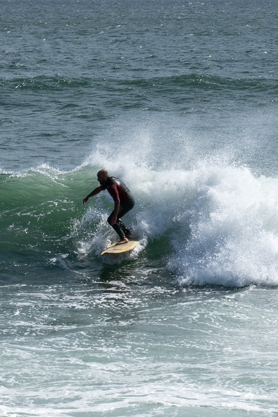 Surfing in Newport, Rhode Island - September, 2020