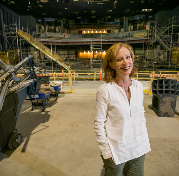Susan V. Booth is the artistic director at the Alliance Theater, which is under rennovation for the 2017-2018 season.  All Alliance shows are taking place at other area theaters as the seating structure and stages are rebuilt and updated.  Rehearsal spaces are being added, costuming storage and creation has moved to larger, naturally lit locations and an interior staircase is being added to the facility.  (Jenni Girtman / Atlanta Event Photography)
