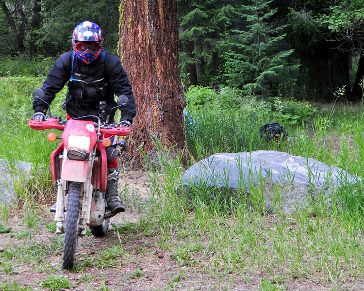 Mr. Mike and his KLX650.