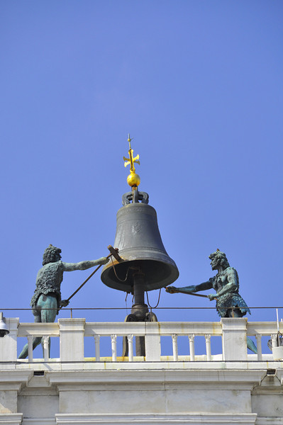 The bell tower in St. Mark's Square of Venice