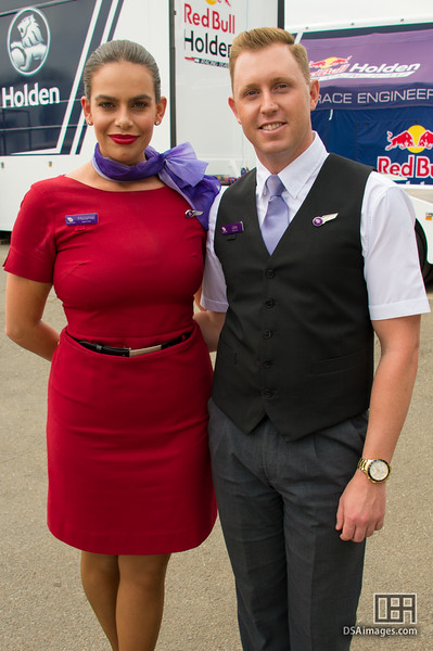Melanie and Jake of the Virgin Australia cabin crew