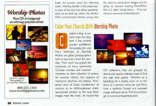 Article and ad in Worship Leader Mag. e-mail.jpg