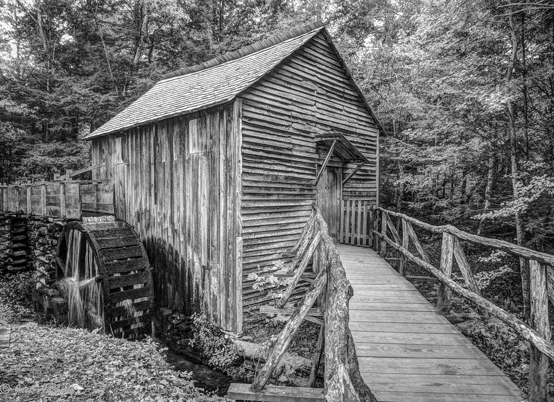 Mill in Cades Cove, Smoky Mountain NP