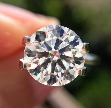 2.30ct Round Brilliant Diamond, BGD Signature H&A AGS0000 J, VS2