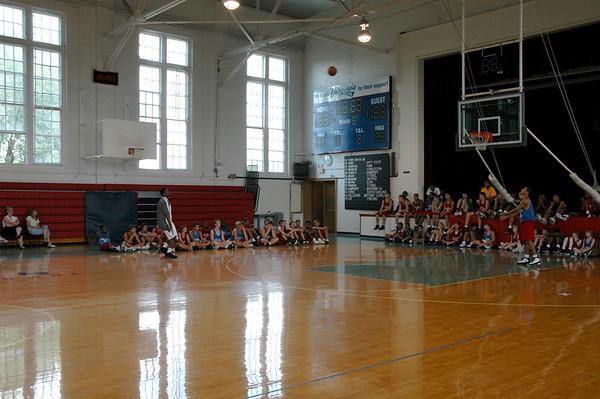 Shammond Williams Visits Basketball Camp