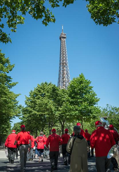 The Tour Eiffel made a good landmark