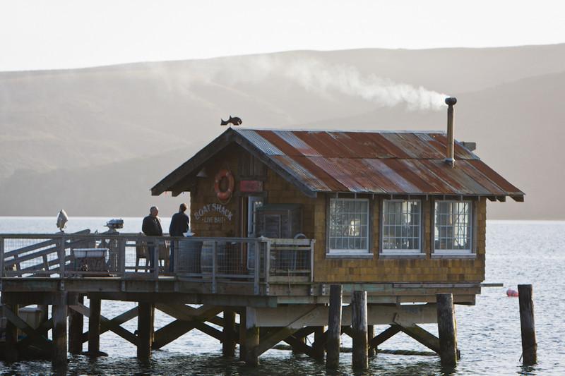 We bid adeiu to the wood burning stove inside the boat shack.