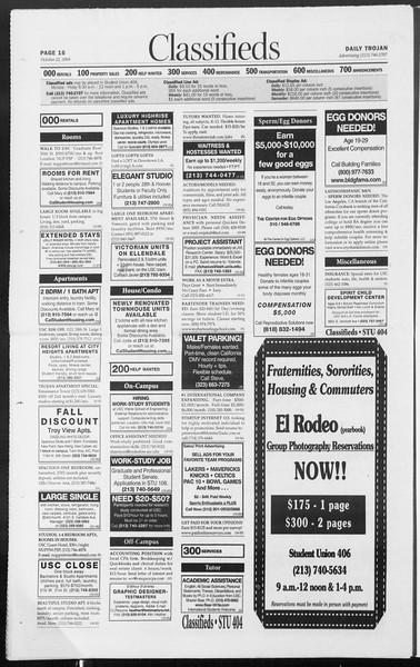 Daily Trojan, Vol. 153, No. 42, October 22, 2004
