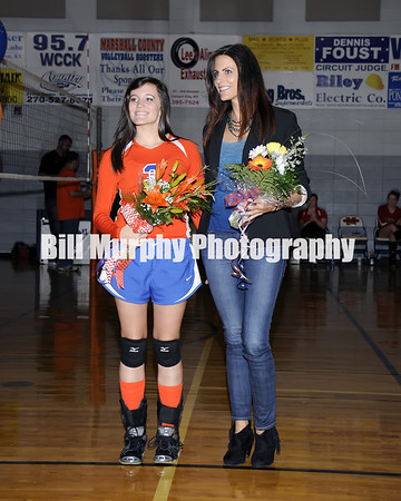 Marshall County High School Volleyball Team Senior Night, October 15, 2013.