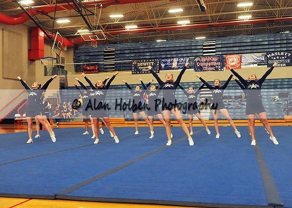 Cheer at Mason Feb 4 - Mt Pleasant varsity - Round 2
