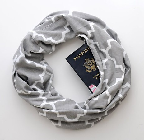travel scarf with secret pocket