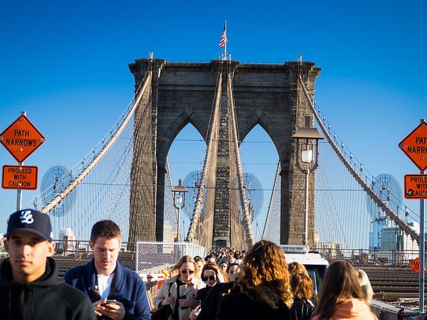 New York City High Line and Brooklyn Bridge